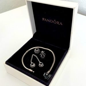 Pandora Bracelet with 3 charms SET